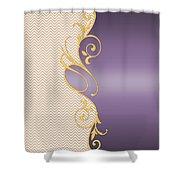 Purple Gold Chevron Shower Curtain