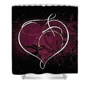 Purple Heart Of Passion Shower Curtain