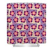 Purple Hibiscus Pattern Shower Curtain