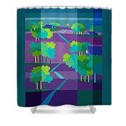 Purple Hill Farms Shower Curtain