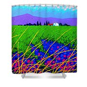 Purple Hills Shower Curtain by John  Nolan