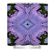 Purple Hydrangea Flower Abstract 2 Shower Curtain