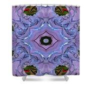 Purple Hydrangea Flower Abstract Shower Curtain