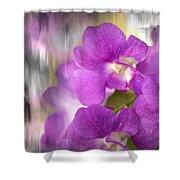 Purple Impression Shower Curtain