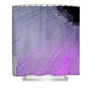 Purple Iris Ice Eye Shower Curtain