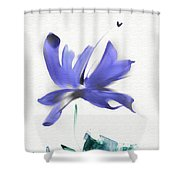 Purple Iris In The Greenery Shower Curtain