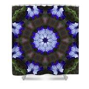 Purple Iris Kaleidoscope Shower Curtain