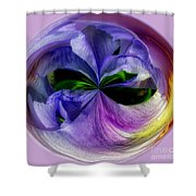 Purple Iris Orb Shower Curtain