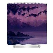 Purple Jungle Shower Curtain