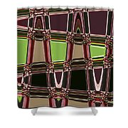 Purple Leaves Abstract Shower Curtain