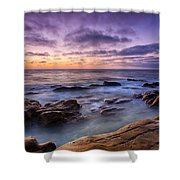 Purple Majesty No Mountain Shower Curtain