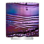 Purple Meterorite Shower Curtain