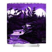 Purple Mountain Shower Curtain