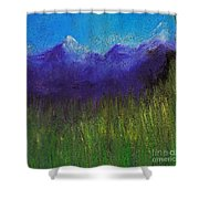 Purple Mountains By Jrr Shower Curtain