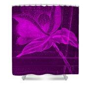 Purple Negative Wood Flower Shower Curtain