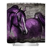 Purple One Shower Curtain by Angel  Tarantella