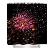Purple Orbit Shower Curtain by Aimee L Maher Photography and Art Visit ALMGallerydotcom