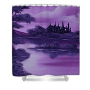 Purple Palace For Sale Shower Curtain
