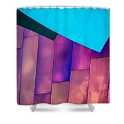 Purple Panels Shower Curtain
