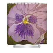Purple Pansy 1 Shower Curtain