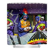 Purple Party People Shower Curtain