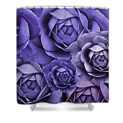 Purple Passion Rose Flower Abstract Shower Curtain