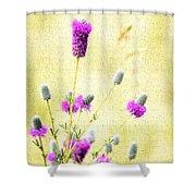 Purple Passion Texture Shower Curtain