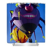 Purple People Eater And Friend Shower Curtain