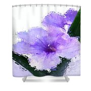 Purple Petunia Shower Curtain