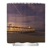 Purple Pier Shower Curtain