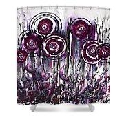 Purple Poppies Shower Curtain