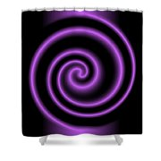 Purple Post Shower Curtain