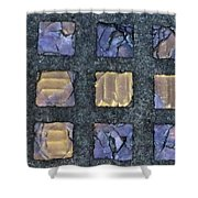Purple Prism Glass In A Square Shower Curtain