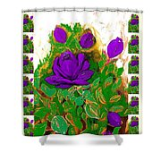 Purple Roses From The Garden 2 Shower Curtain