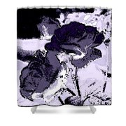 Purple Roses Shower Curtain