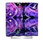 Purple Rutabagas Reflect  Shower Curtain