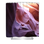 Purple Sandstone Shower Curtain