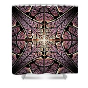 Purple Shield Shower Curtain
