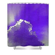 Purple Sky With A Cloud Shower Curtain
