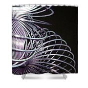 Purple Slinky Shower Curtain
