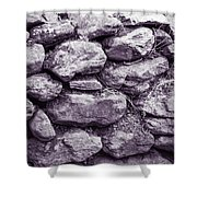 Purple Stone Wall Shower Curtain