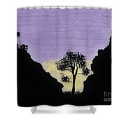 Purple Sunset Drawing Shower Curtain