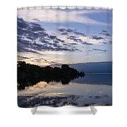 Purple Sunrise Clouds Shower Curtain