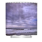 Purple Sunset At The Beach Shower Curtain