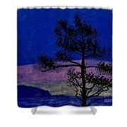 Purple Sunset Bay Shower Curtain