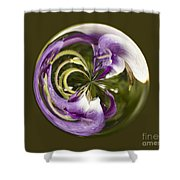 Purple Swirl Orb Shower Curtain