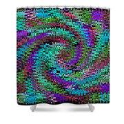 Purple Swirl Ripples Shower Curtain