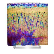 Purple Tan Stone Abstract Shower Curtain