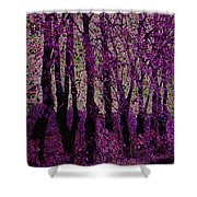 Purple Trees Shower Curtain