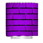 Purple Wall Shower Curtain by Semmick Photo